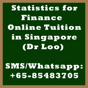 Statistics for Finance Online Tuition Singapore