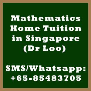 Mathematics Home Tuition Singapore