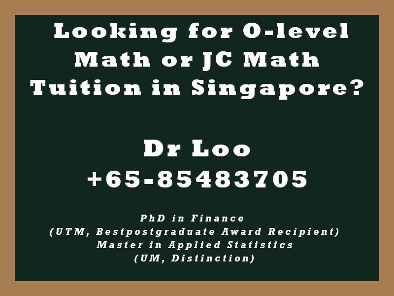 O-level Math Tuition Singapore & JC H2 Math Tuition Singapore - Sampling Method in Statistics