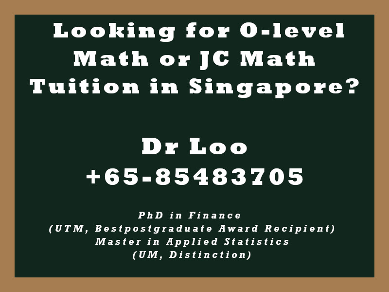 O-level Math Tuition Singapore & JC H2 Math Tuition Singapore - Logistic Regression