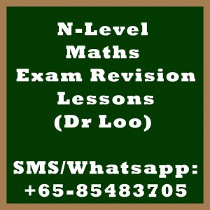 Singapore N-Level Maths Exam Revision Lessons