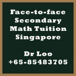 Face-to-face Secondary Math Tuition Singapore