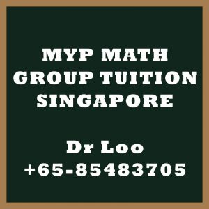 Middle Year Program MYP Maths Group Tuition Singapore