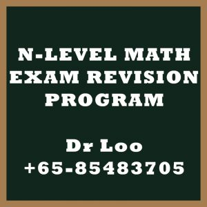 N-Level Maths Exam Revision Program Singapore