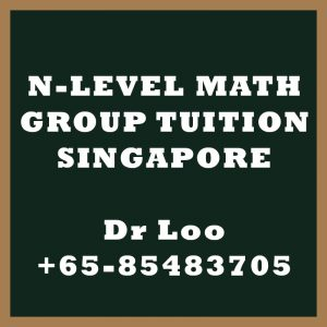 N-Level Maths Group Tuition Singapore