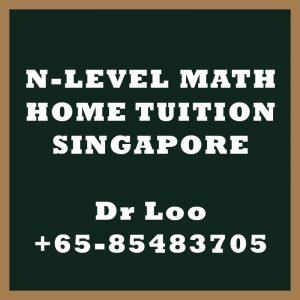N-Level Maths Home Tuition Singapore