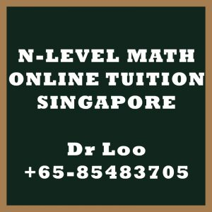 N-Level Maths Online Tuition Singapore