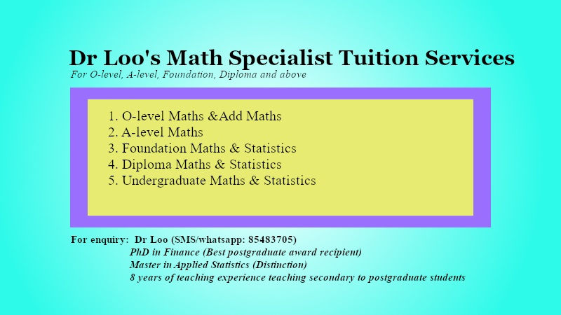 Secondary Maths Tuition Singapore