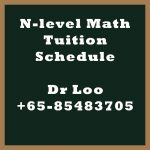 Secondary N-level Math Tuition Schedule