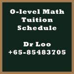 Secondary O-level Math Tuition Schedule