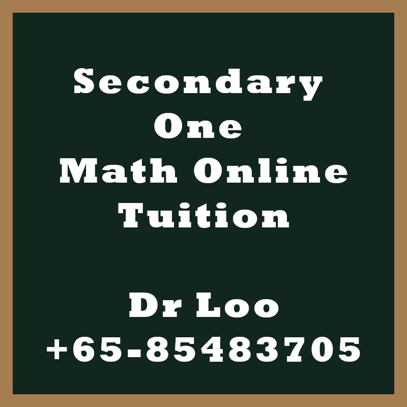 Secondary One Math Online Tutoring