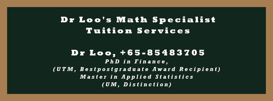 Singapore Secondary Four Math Tutoring Services