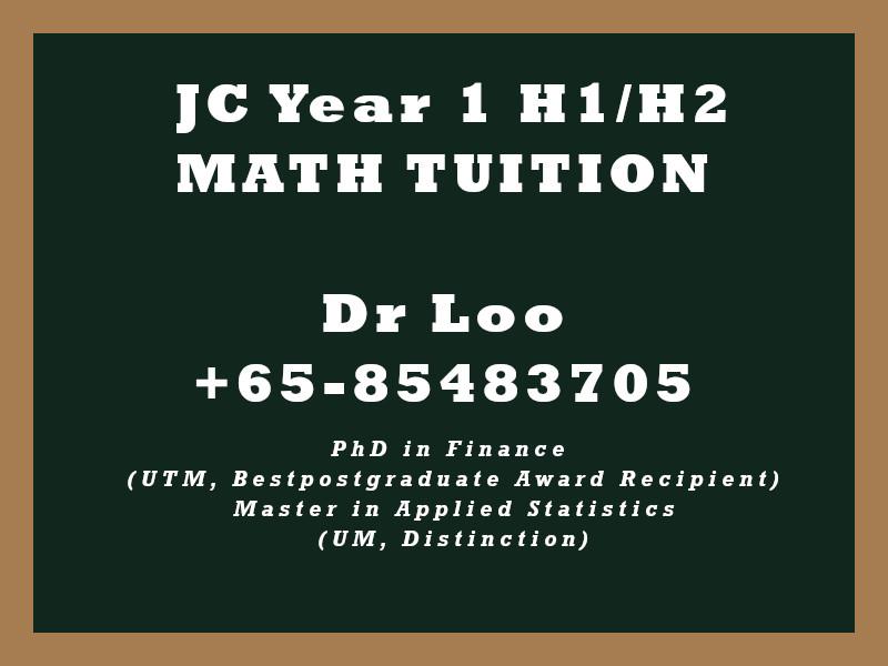 JC1 H1 H2 Math Tuition Singapore