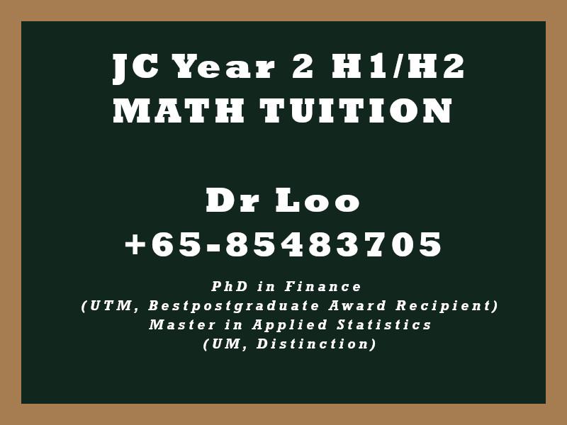 JC2 H1 H2 Math Tuition Singapore