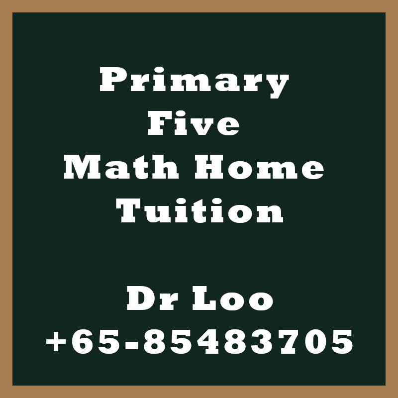 Primary Five Math Home Tuition Singapore
