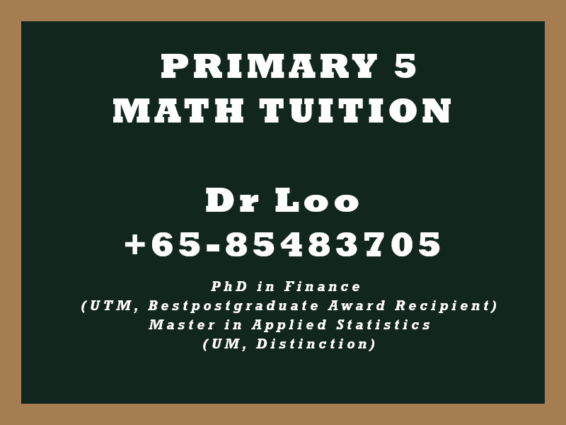 Primary Five Math Tuition