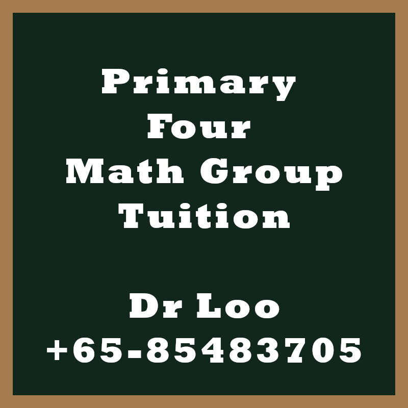 Primary Four Math Group Tuition Class Singapore