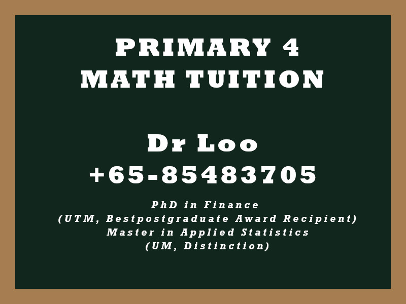 Primary Four Math Tuition