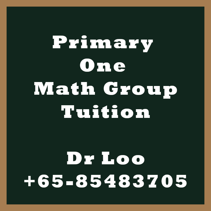 Primary One Math Group Tuition Class Singapore