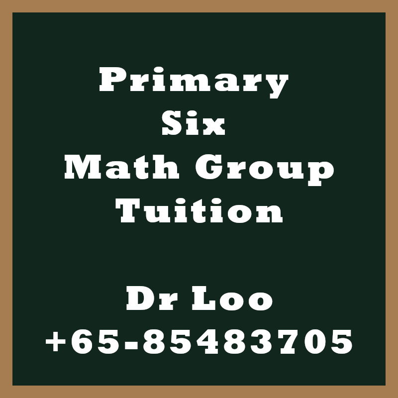 Primary Six Math Group Tuition Class Singapore