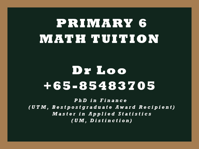 Primary Six Math Tuition
