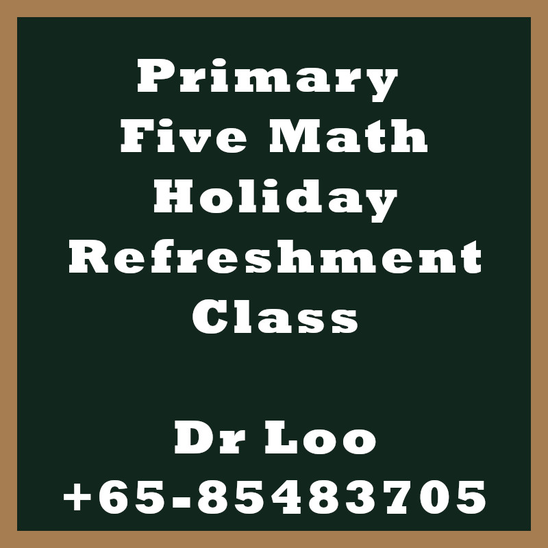 Singapore Primary Five Holiday Refreshment Class