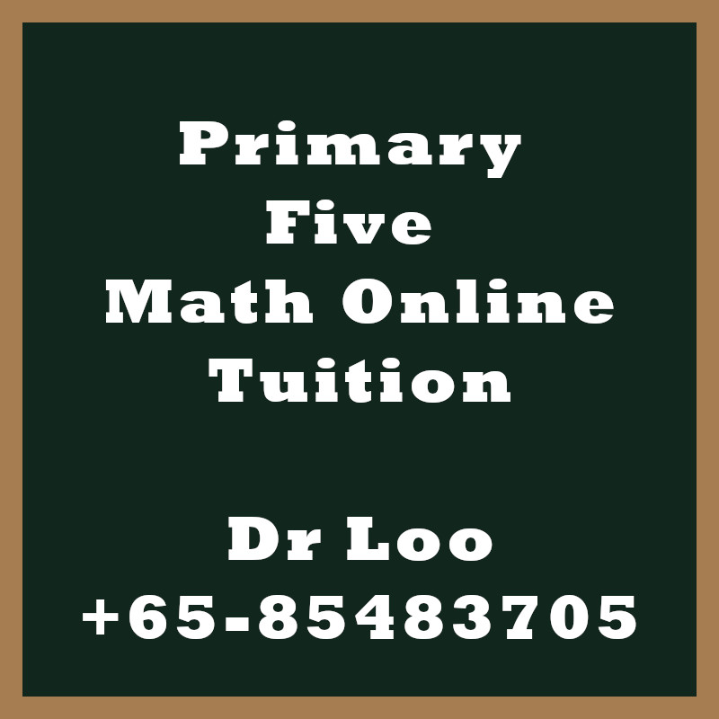 Singapore Primary Five Online Math Tutoring