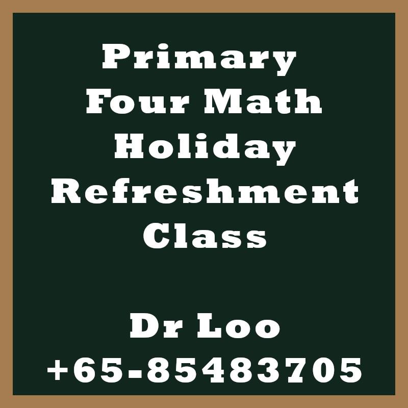 Singapore Primary Four Holiday Refreshment Class