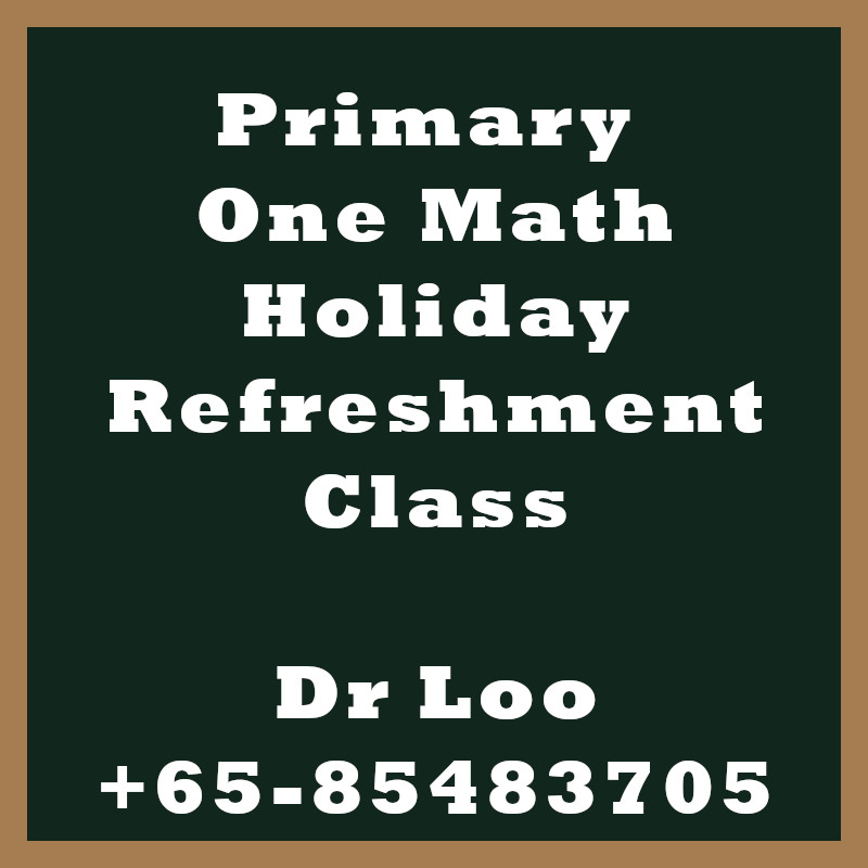 Singapore Primary One Holiday Refreshment Class