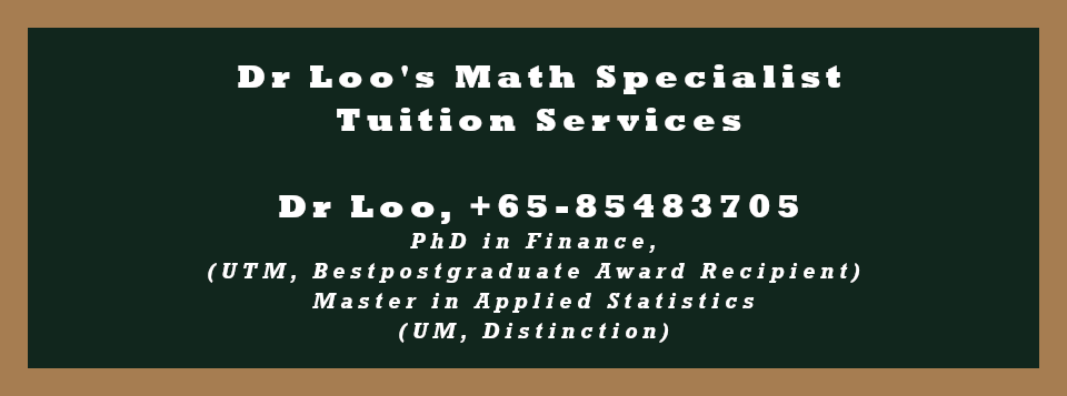 Singapore Primary One Math Tutoring Services