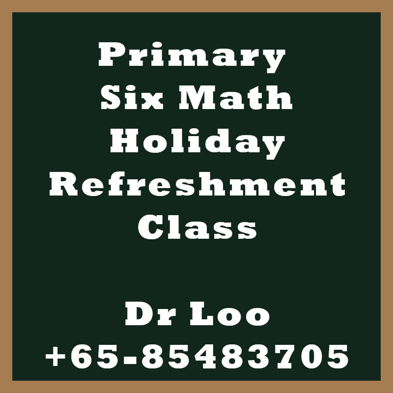 Singapore Primary Six Holiday Refreshment Class